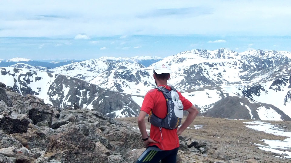 Trent enjoys the view at 13,000+ ft