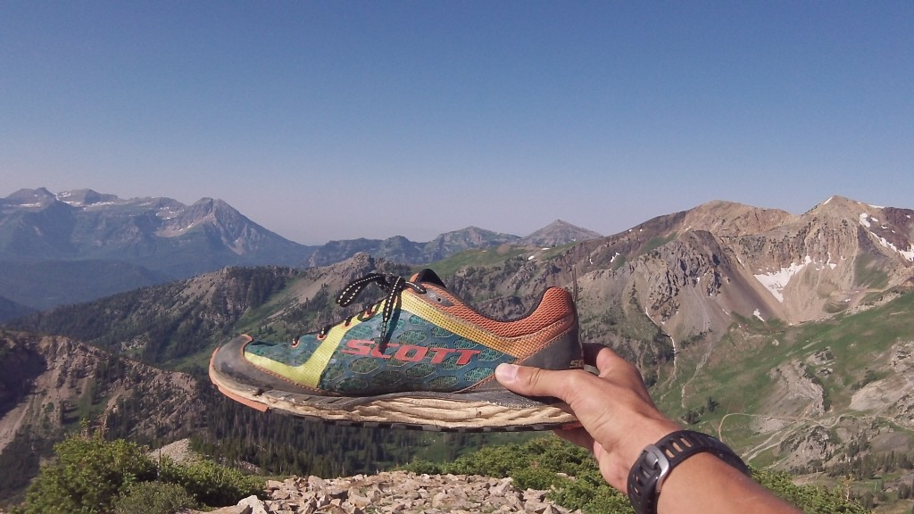 The SCOTT Kinabalu trail shoe made the climb up over 11,000 feet!