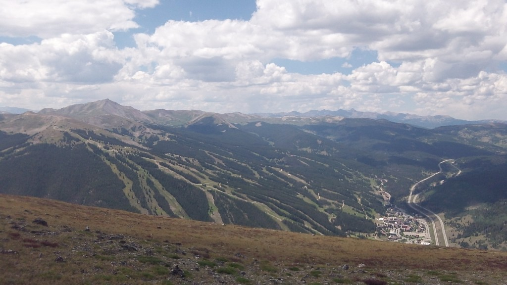 view down to Copper Mtn