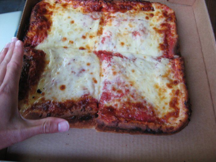 Ithaca's own: the Nine's Deep Dish pizza. Extra cheese and carbs!