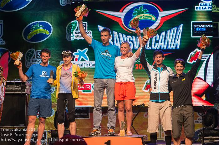 Podium for the ultra. Photo Credit: Jose Fernandez Arozena