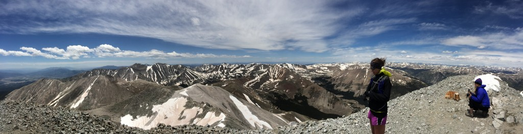 Summit view on Mt. Antero (at 14,270')
