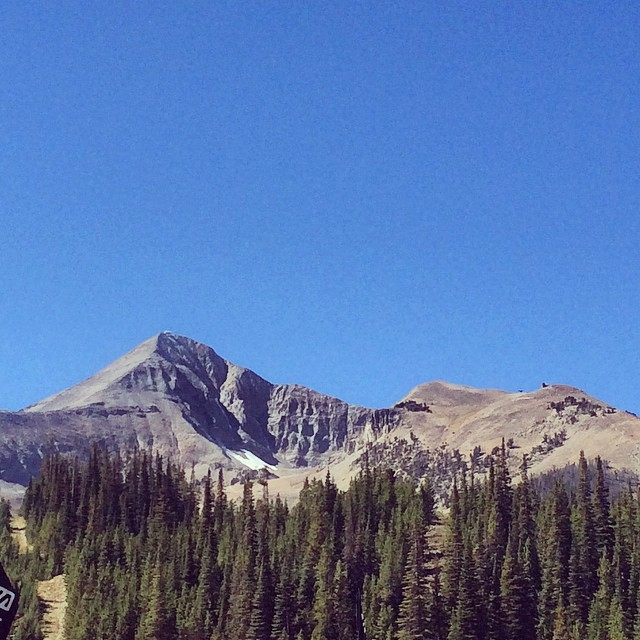Lone Peak (as seen from the start/finish)...we hit the summit of this at mile 21 into the race!
