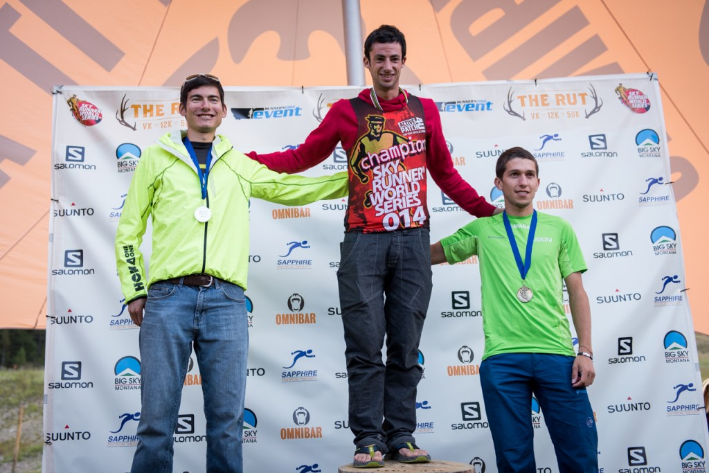 Podium: Congrats to Manuel Merillas as well who placed 3rd and also got 3rd overall in the SkyRunning Ultra Series! Photo: Matt Trappe: http://www.trappephoto.com