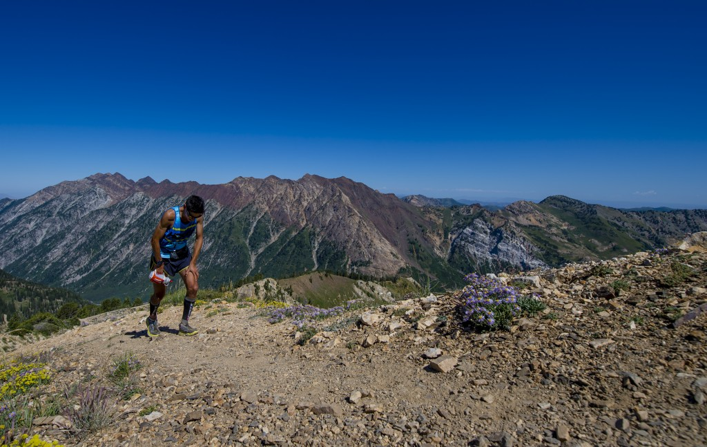 That final ridge line up to Hidden Peak around mile 27 always reduces me to a powerhike! Photo Credit: Paul Nelson: https://www.facebook.com/paulmichaelnelsonphoto