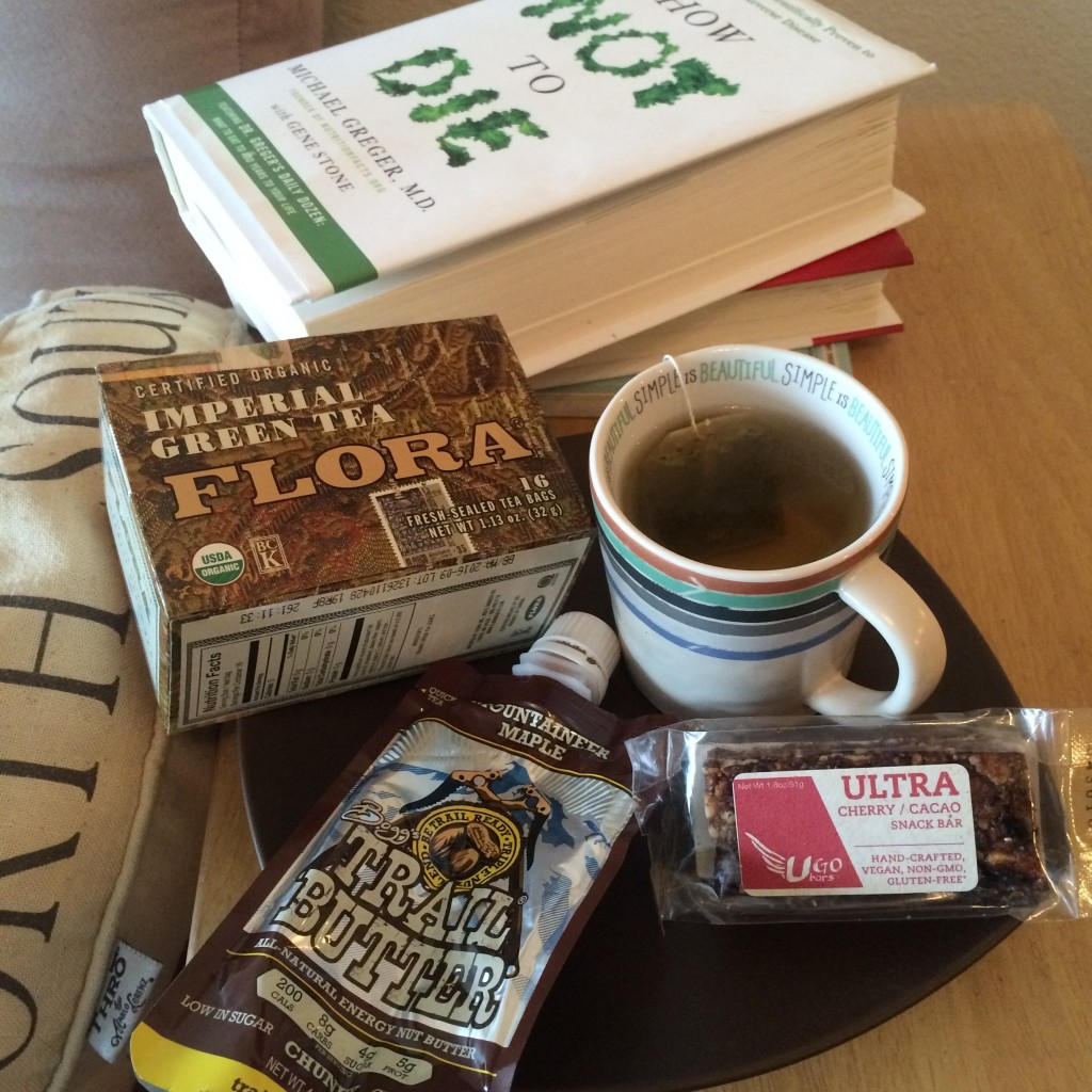 "Typical ""Afternoon Tea Time Snack"" with UgoBars and Trail Butter....I like something sweet with my tea/coffee"