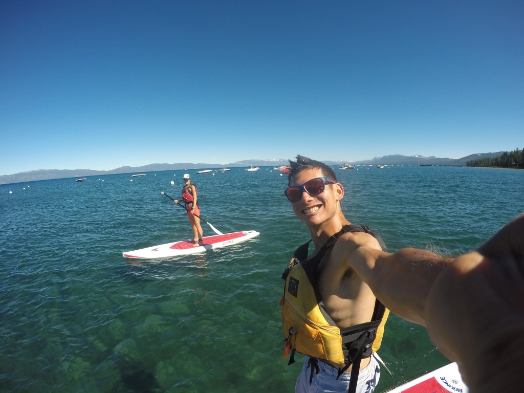 Paddle board with Sandi on Lake Tahoe!.