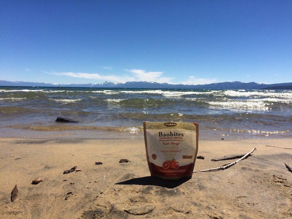 Flora Health Snacks on the (Lake Tahoe) Beach!